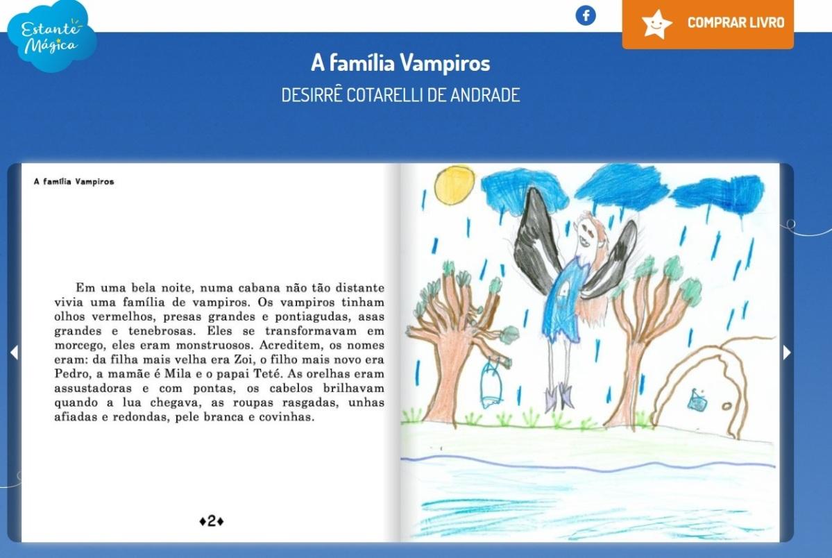 Estante Mágica presenteia alunos da rede publica com livros autorais